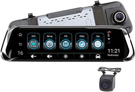 Cámara de Coche Dash Camara de Coche Retrovisor 10 Pulgadas Touch ...