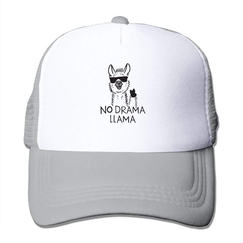 Unisex No Drama Llama Mesh Cap Adjustable Snapback Baseball Hats Adult Trucker Hats for Women JTRVW Cowboy Hats