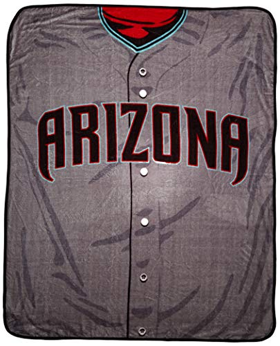 MLB Arizona Diamondbacks Jersey Plush Raschel Throw, 50