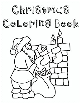 christmas coloring book for kids toddlers children ages 2 8color your coverv1 my christmas coloring book volume 1 dartan creations