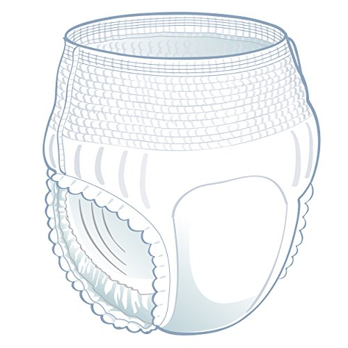 Medline Fitright Ultra Protective Underwear, Large, 4 packs of 20 (80 total) by Medline (Image #1)