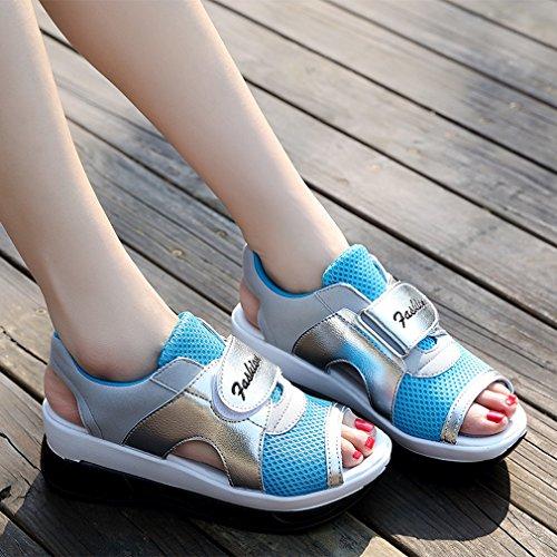 Donna Peep Solshine Toe Peep Solshine Blu Blu Donna Solshine Toe 6cwfBdBq