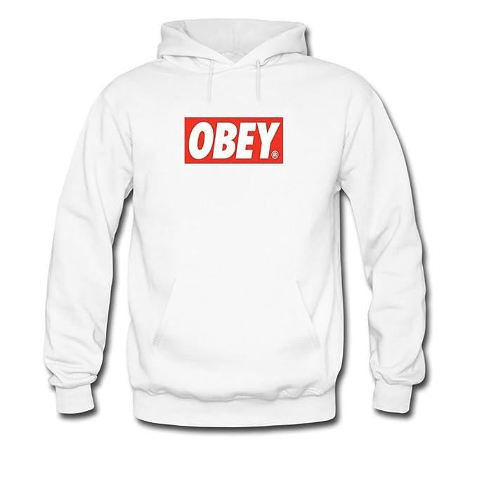 obey Hoodies - Sudadera - para niño blanco large: Amazon.es: Ropa y accesorios