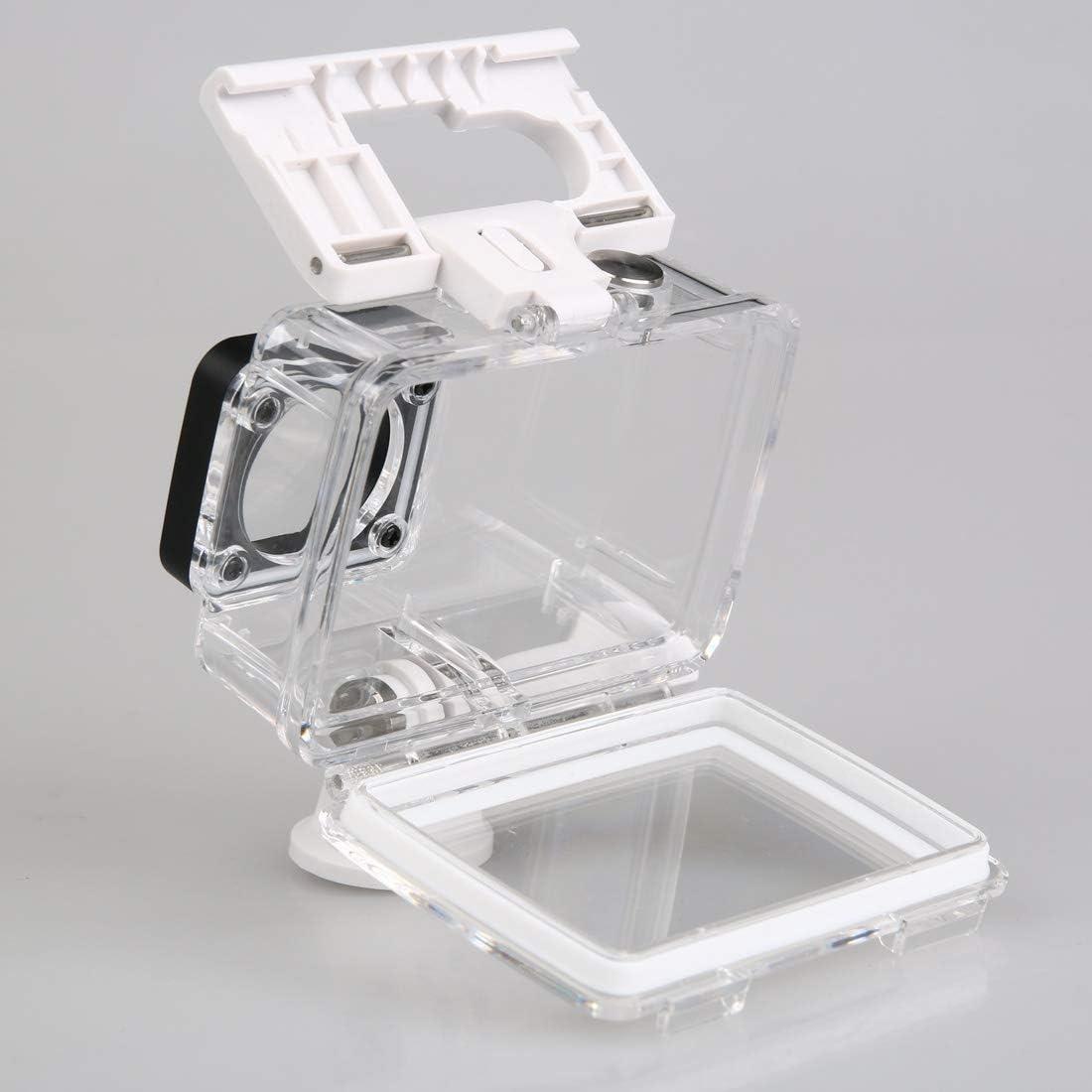 VKeyueDa Waterproof Depth: 40m Color : White White VKeyueDa IP68 Waterproof Housing Protective Case with Buckle Basic Mount for Xiaomi Xiaoyi II 4K Z16FSK01