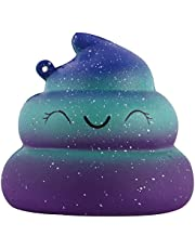 Anboor Squishies Smiling Poo Galaxy Mini Squishy Slow Rising Kawaii Scented Soft Prime Squishies Toys 1Pcs
