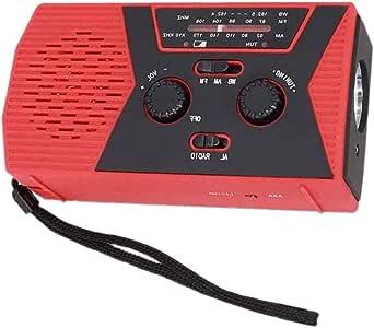 Iycorish Solar Hand Crank Radio Portable AM/FM NOAA Weather Radio for Outdoor and Household Emergency Device LED Flashlight