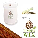Timber Wix GREEN TEA AND LEMONGRASS Scented Wood Wick Soy Candle (14 oz.)
