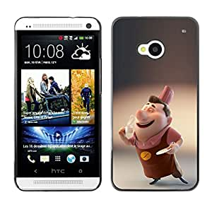 Ziland / Slim Design Case Cover Shel / 3D Cartoon Kids Character / HTC One M7