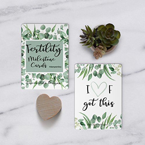 Fertility Milestone Cards IVF Greenery Collection ()