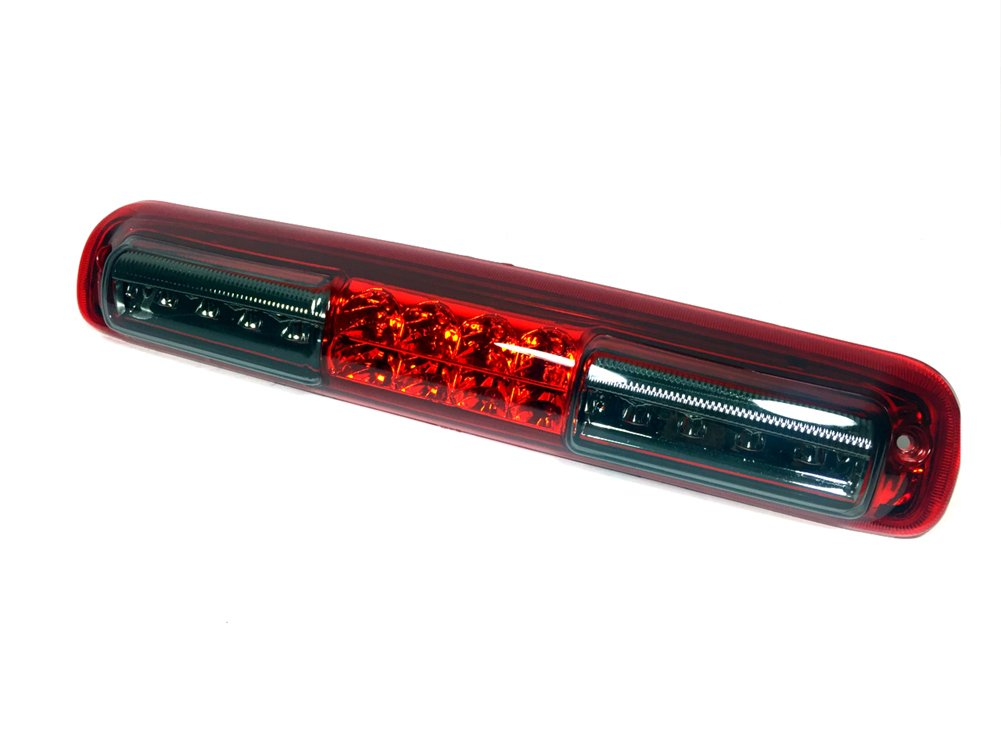 Gldifa Chrome Housing Red And Smoke Lens For 1999-2006 Sierra/Silverado HIGH INTENSITY LED 3rd Third Brake Light