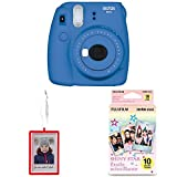 Fujifilm Instax Mini 9 Instant Camera with Holiday Ornament, Red and 10 Sheet Shiny Star Film