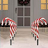 CANDY CANE LIGHTS STAKE INDOOR OUTDOOR CHRISTMAS NEW
