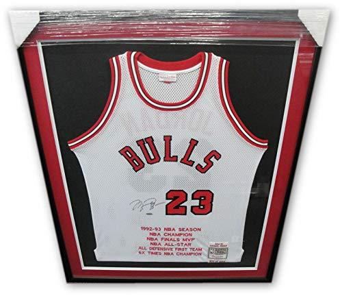 8b3df27acd9 Michael Jordan Signed Jersey - 1984 85 Mitchell   Ness Frame - Upper Deck  Certified -