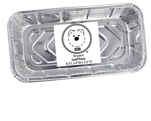 DOBI Loaf Pans - Disposable Aluminum Foil 2Lb Bread Tins, St