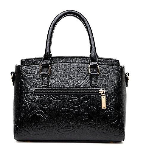 Shoulder Relief BAILIANG Sac à Womens Mode Bag En Main Rose Black Bandoulière 5ffy6q7A