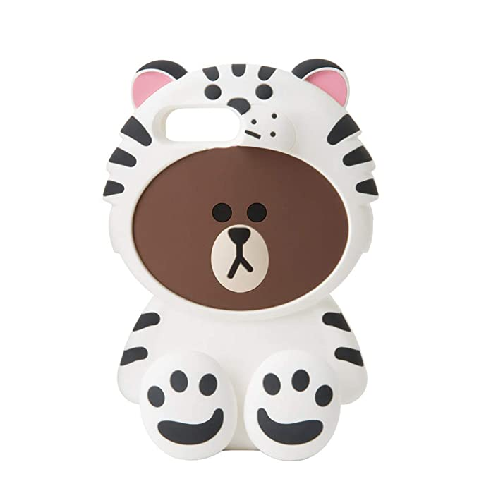 pretty nice 6fdcf 8ac14 Amazon.com: LINE FRIENDS Phone Case - Snow Brown Character Design ...