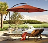 Cheap Deluxe Round Adjustable 10′ Cantilever Patio Market Umbrella – Terracotta