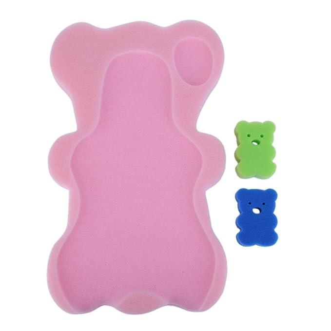 Amazon.com: amazingdeal bebé cojín de esponja de ducha + ...