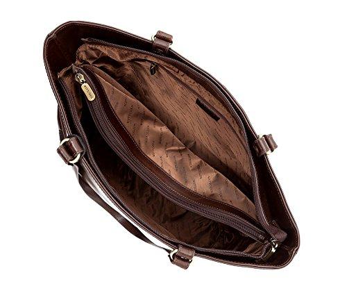 WITTCHEN Borsa classica, Marrone - Dimensione: 31x36cm - Materiale: Pelle di grano -Accomoda A4: Si - 35-4-048-4