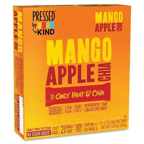 Mango Apple Chia Fruit Bar (Pack of 12) by Generic