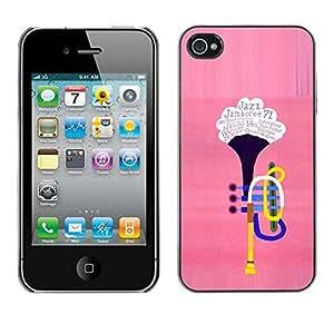 PC/Aluminum Funda Carcasa protectora para Apple Iphone 4 / 4S The trumpet / JUSTGO PHONE PROTECTOR