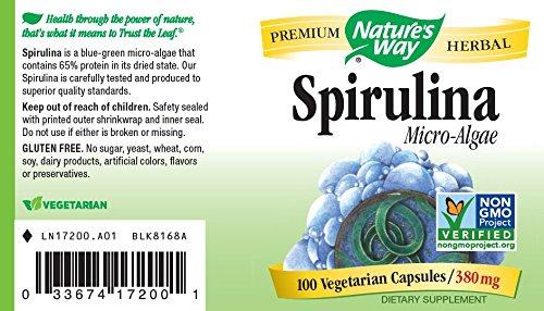 Amazon Com Nature S Way Spirulina Capsules 380 Mg 100 Count