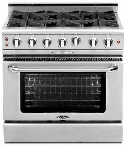 (Capital MCOR366N Capital 36 Gas-Convec 6 Burner Range )