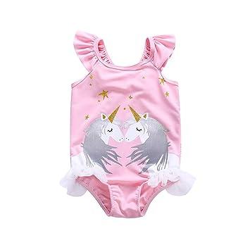 Geschäft super günstig im vergleich zu elegante Form Oipoodde Mädchen-Badeanzug, Mädchen Kinder Rosa Badeanzug ...