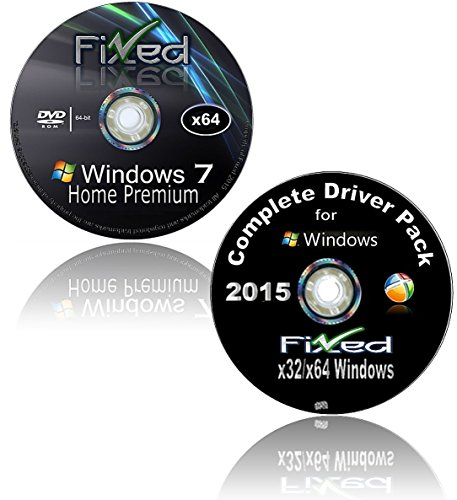 WINDOWS 7 Recovery Disc 64 bit Home Premium *NOW* w/Network Drivers added. Easy to Reinstall Fresh and get online...