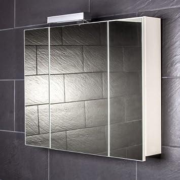 Galdem START80 Spiegelschrank, holz, 80 x 70 x 15 cm, weiß: Amazon ... | {Spiegelschrank holz weiß 29}