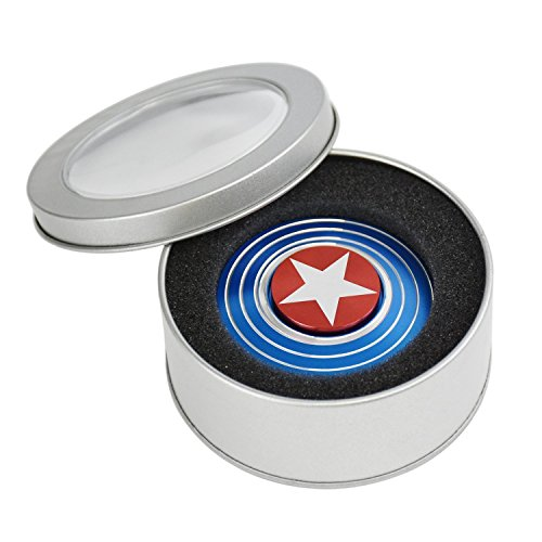 Captain America Fidget Spinner Red Blue Smooth Spin Fidget T