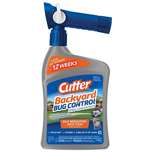 Cutter Backyard Bug Control Spray Concentrate, 32-Ounce (White Spider Pool)