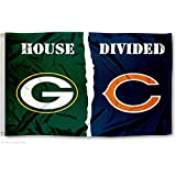 Green Bay Packers and Chicago Bears House Divided Flag
