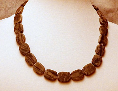 Black and gray marble necklace (662) (Marble Mink)