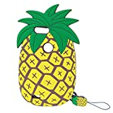 zte blade 6 case - Jinxtech Pineapple Shaped Adorable Fruit Design 3D Cute Cartoon Character Soft Silicone Case with a Strap Compatible with for Zte Blade Z Max Z982(6 Inch)(Pineapple)