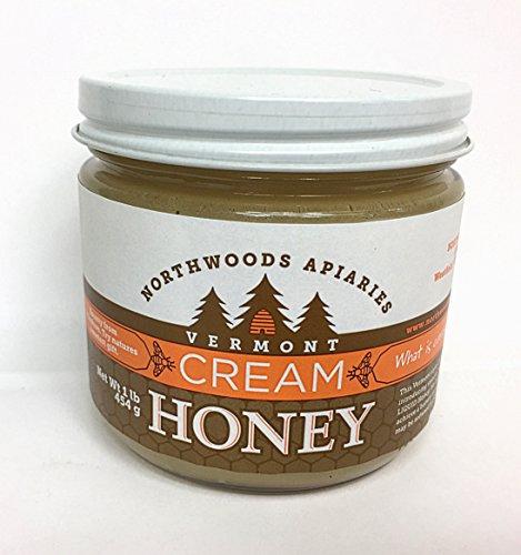 Vermont Cream Honey, 1 lb round jar (Valley Champlain Honey)
