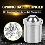 20 pcs 304 Ball Plunger Stainless Steel Precision Positioning Beads Screw Spring Smooth Ball Plunger(φ 45)