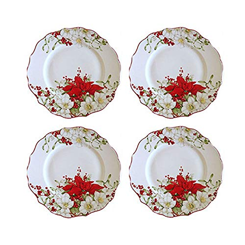 222 Fifth Winter Harmony Holiday Dinner Plates, Set of 4,