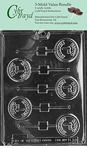 CybrTrayd K162-6BUNDLE Building Blocks Chocolate Candy Mold with Exclusive Copyrighted Chocolate Molding Instructions