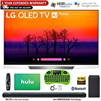 LG Class E8 OLED 4K HDR AI Smart TV (2018 Model) + LG SK10Y 5.1.2-Channel Hi-Res Audio Soundbar w/Dolby Atmos + Hulu $100 Gift Card + 1 Year Extended Warranty + More (65 OLED65E8)