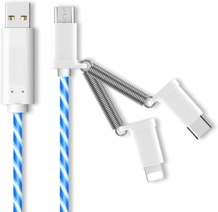 Prestonplayz Multi Charging Cable Universal 3 in 1 Multiple USB Cable Fast Charging Cord