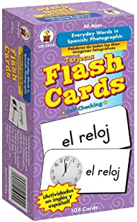 Carson-Dellosa 3924 Everyday Words in Spanish: Photographic Flash Cards: Palabras de todos