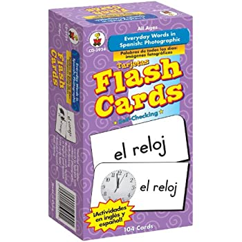 Carson-Dellosa 3924 Everyday Words in Spanish: Photographic Flash Cards: Palabras de Todos Los días: fotográfico