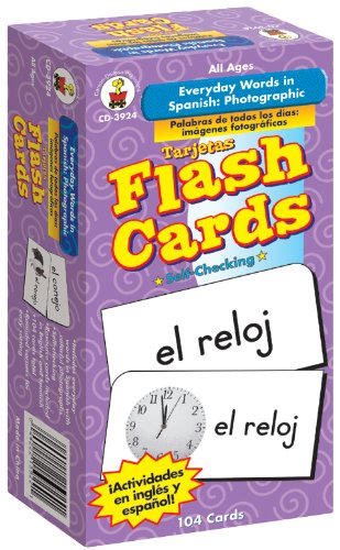 Carson-Dellosa 3924 Everyday Words in Spanish: Photographic Flash Cards:...