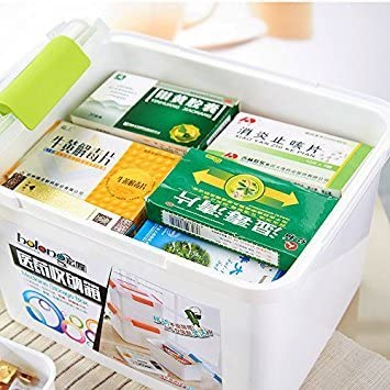 Extra Large Household Kit de primeros auxilios multifuncional caja de almacenamiento de medicinas Organizador para el hogar