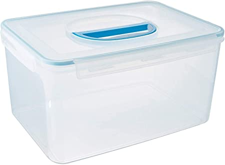 Amazon Com Komax Biokips Extra Large Food Storage Container 48 6 Cups Airtight Container For Flour Rice Sugar Baking Supplies Bulk And Pet Food Bpa Free Food Bucket With Locking Lid Handle Kitchen