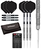Red Dragon Peter Wright Snakebite 11 Element - 20 gram - Premium Tungsten Steel Darts with Hardcore Flights, Black Crossfire Carbon Fibre Shafts, RD Tri Fold Wallet & Red Dragon Checkout Card
