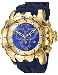 Invicta Mens Venom Swiss Quartz Stainless Steel and Silicone Casual Watch, Color:Blue (Model: 20402)
