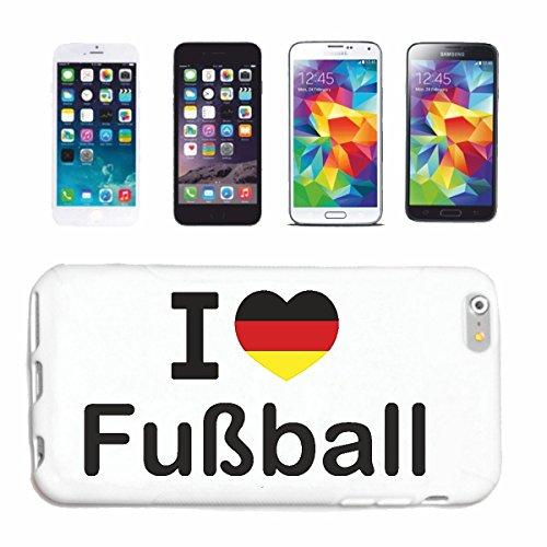"""cas de téléphone iPhone 6S """"J'AIME FOOTBALL FOOTBALL ALLEMAGNE CHAMPION DU MONDE RUSSIE RUSSIE demi-finale QUARTS DE FINALE"""" Hard Case Cover Téléphone Covers Smart Cover pour Apple iPhone en blanc"""