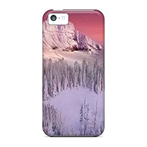 Iphone 5c Case Cover Skin : Premium High Quality Winter Mountains Case